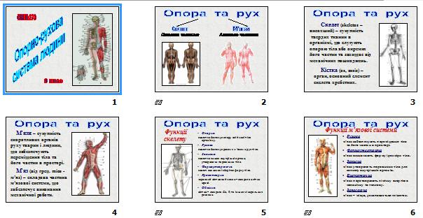 """Презентація """"Опорно-рухова система людини"""" (для 9 кл.)"""