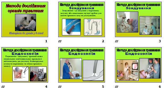 """Презентація """"Методи дослідження органів травлення"""" (для 9 кл.)"""