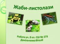 Презентація «Жаби-листолази»