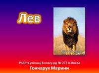 Презентація «Лев»