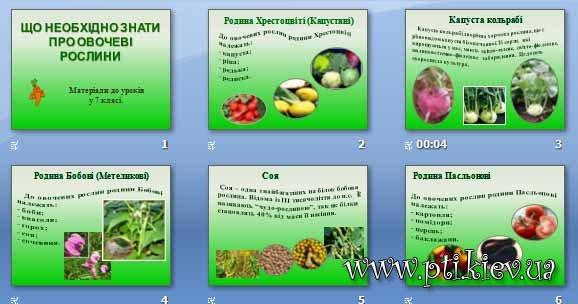 Презентація «Що необхідно знати про овочеві рослини»
