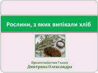 Презентація «Рослини, з яких випікали хліб»