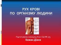 Презентація «Рух крові по організму людини»