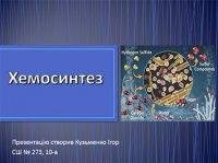 Презентація «Хемосинтез»