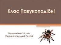 Презентація «Клас Павукоподібні»
